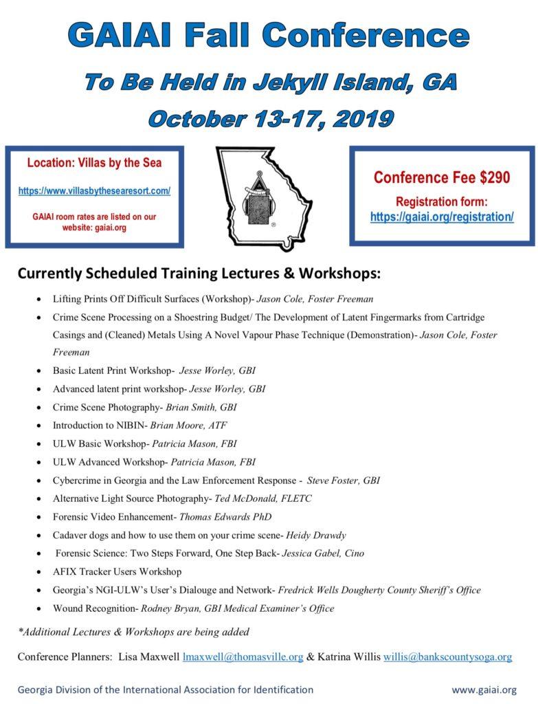 Fall – Georgia State Division International Association for